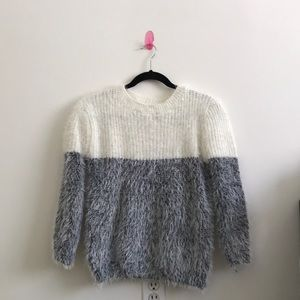 Furry Two Toned Sweater